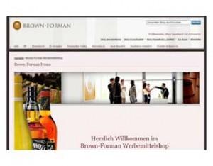 Brown-Forman Werbemittelshop und Bilddatenbank