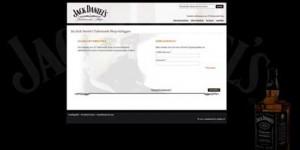 Abrufsystem für Jack Daniel's Werbemittel