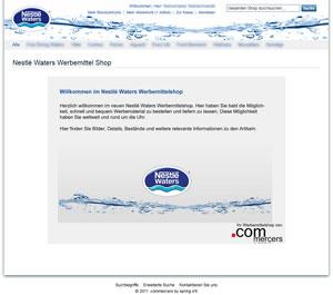 Abrufsystem mit Magentoentwicklung für Nestlé Waters