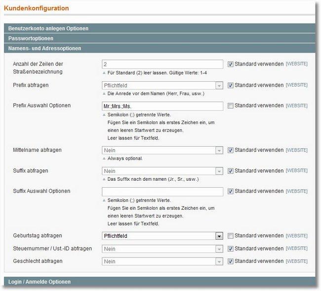 Magento Prefix Anrede In Verschiedenen Storeviews Sprachen