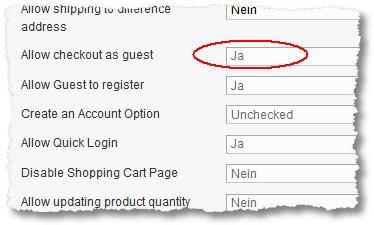 Magento – Als Gast zur Kasse gehen wird nicht angezeigt ...