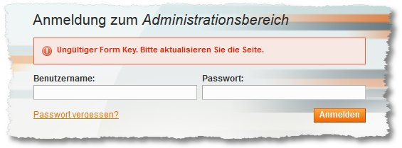 Magento – Invalid form Key. Please refresh the page. | Problem der ...