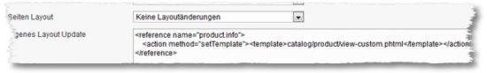 Magento – Layout Update nur für definierte Produkte
